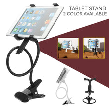 Load image into Gallery viewer, Metal 360 Rotating Tablet Stand Bed Desk Mount Holder Clamp Tablet Bracket Organizer Tablet Accessories 7 Inch 10 Inch 2 Colors