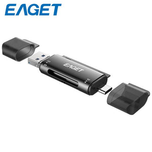EAGET EZ08 Card Reader USB 3.0 Type C to SD Micro SD TF Adapter for laptop Accessories OTG Cardreader Smart Memory SD