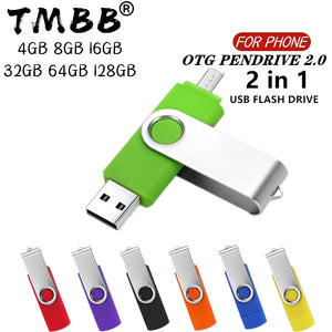 360° Rotate OTG USB Flash drive cle 64G USB 2.0 Smart Phone pen drive 4g 8g 16g 32g 128g micro usb memory storage devices U disk