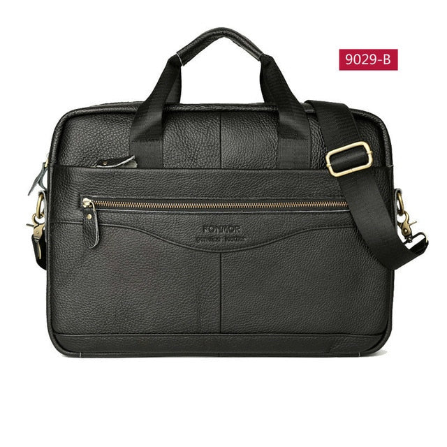 Bussiness Laptop Bag Men's Briefcases Genuine Leather Man Handbag Casual Totes Male Messenger Laptop Bag Men Lawyer Shoulder Bag