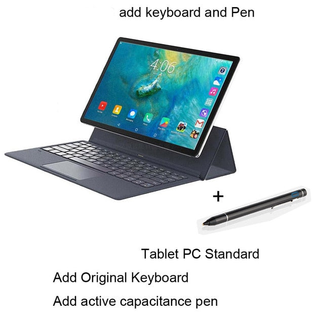 Orginal laptop 11.6 inch 2 in 1 Tablet Android 4G LTE MTK6797 10 cores Android 8.0 Tablet for Drawing Tablets with Keyboard tab