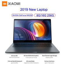 Load image into Gallery viewer, Xiaomi Mi Notebook Pro Gaming Laptop 15.6 Inch Windows 10 Intel Quad Core I5/I7 8GB/16GB RAM 256GB SSD 2G GeForce MX250 Card