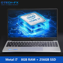 "Load image into Gallery viewer, 15.6"" Gaming i7 Metal SSD 256GB HDD 1TB Big CPU Intel Windows 10 Office School AZERTY Italian Spanish Russian Keyboard Back lit"