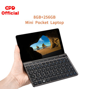 New GPD Pocket 2  8GB 256GB 7 Inch Slim Laptop Gaming  Mini PC Computer Netbook Touch Screen CPU Intel Celeron 3965Y Windows 10