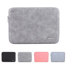 Load image into Gallery viewer, Soft PU Leather Sleeve 13.3 15 Waterproof Pouch Laptop Bag For Macbook Air 13 Pro Retina 14 15.6 inch Asus Notebooks Case Cover