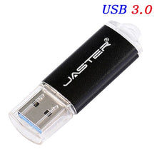 Load image into Gallery viewer, New Usb 3.0 JASTER USB Flash Drive 128GB 64GB Metal Pen Drive 8GB 16GB 32GB High Speed USB Stick Pendrives for Computer