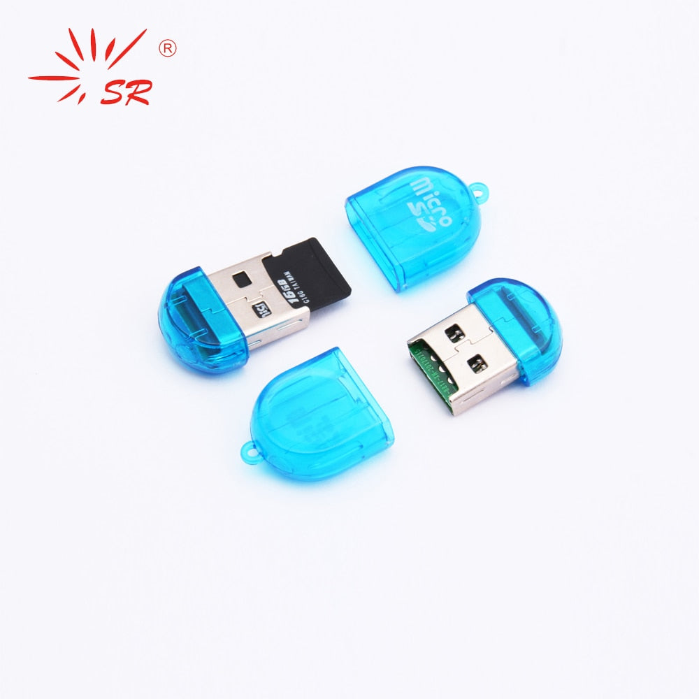 SR Firely Clear Style Micro SD Card Reader USB 2.0 Flash Internal TF Memory OTG Adapter Drive for PC Laptop Accessories