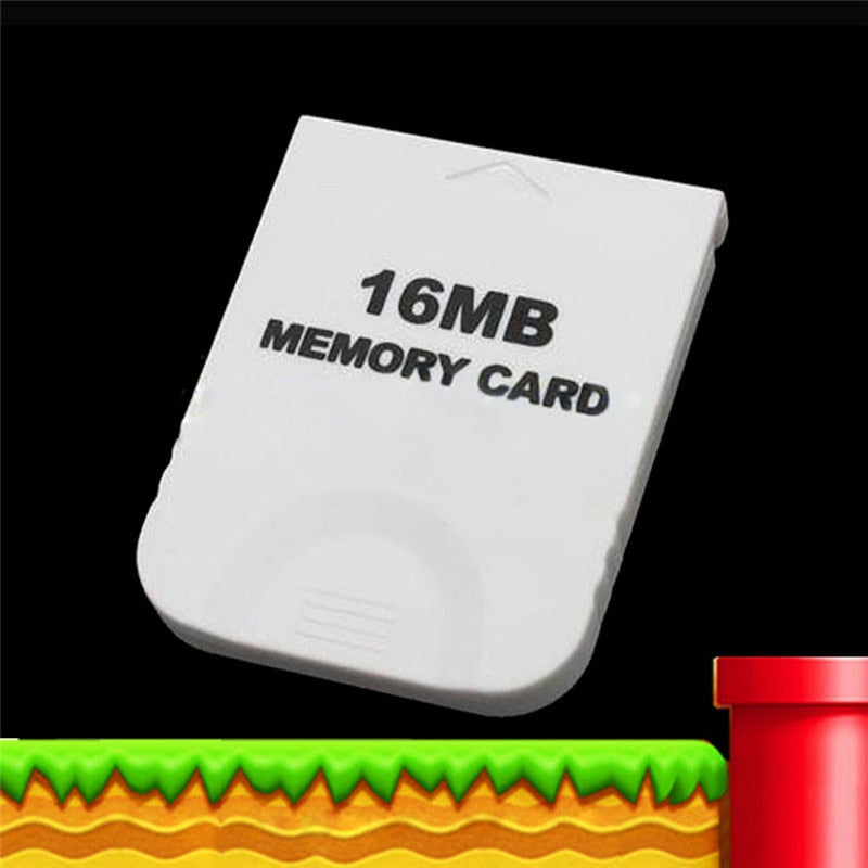 Practical White Game 16MB Memory Card Block for Nintendo Wii Gamecube GC Game System Console 16M High Quality Game System Consol