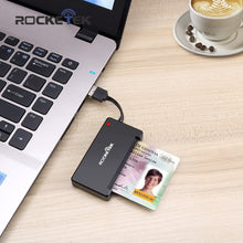 Load image into Gallery viewer, Rocketek USB 2.0 Smart Card Reader CAC ID,Bank card,sim card cloner connector cardreader adapter computer pc laptop accessories