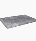 "Silver Tumbled Travertine Thick Pool Coping 12"" x 24"""