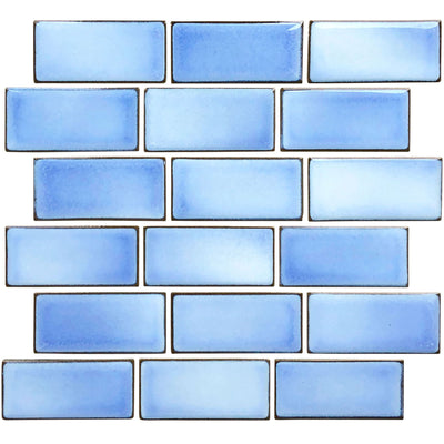 Glacier Blue 2x4 Subway Waterline Pool Tile