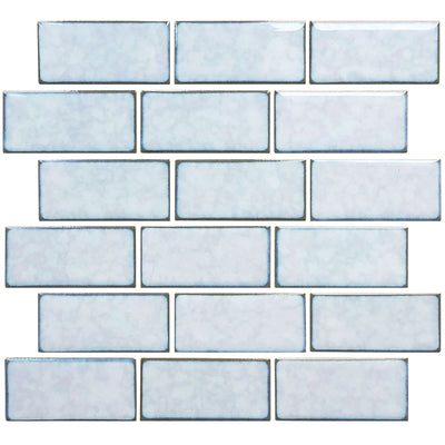 Sea Salt Gray 2x4 Subway Waterline Pool Tile