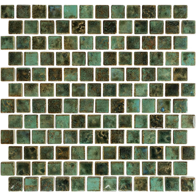 1x1 Porcelain Pool Tile Verde Green