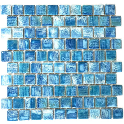 Icy Blue 1x1 Porcelain Waterline Pool Tile