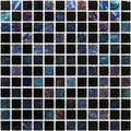 "Nero Blend Black Iridescent 1"" x 1"" Glass Tile For Pool, Backsplash and Wall"