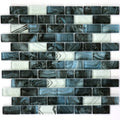 "Smoke Blue 1"" x 2"" Glass Tile"
