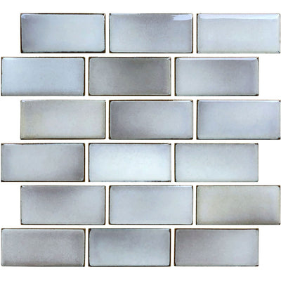 Pewter Gray 2x4 Subway Waterline Pool Tile