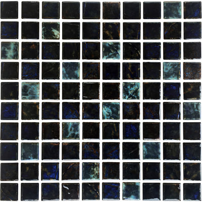 Blue Teal Mix 1x1 Porcelain Pool Tile