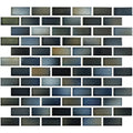 "Captain Blue 1"" x 2"" Glossy Porcelain Waterline Pool Tile"