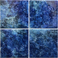 "Hawaiian Blue 6"" x 6"" Glossy Porcelain Waterline Pool Tile"