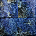 "Bermuda Blue 6"" x 6"" Glossy Porcelain Waterline Pool Tile"