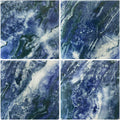 "Marble Blue 6"" x 6"" Porcelain Waterline Pool Tile"