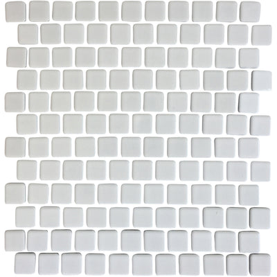 White Glazed 1x1 Porcelain Pool Tile