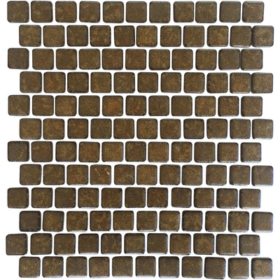 Bronze Glazed 1x1 Porcelain Pool Tile