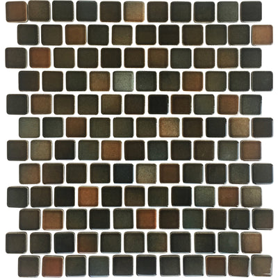 Brown Mix Glazed 1x1 Porcelain Pool Tile
