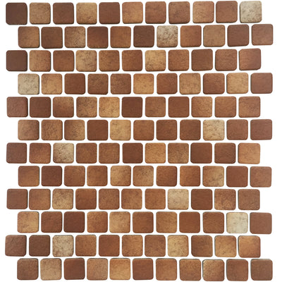 1x1 Brown Matte Porcelain Pool Tile