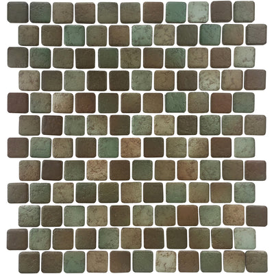 1x1 Moss Green Matte Porcelain Pool Tile