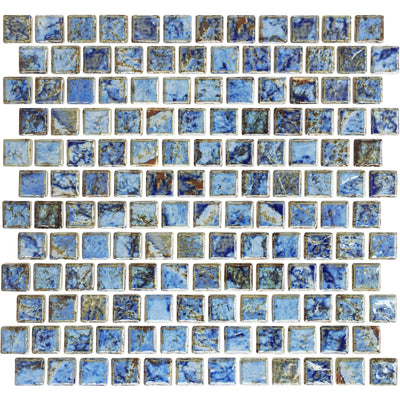 Aqua Blue 1x1 Porcelain Pool Tile
