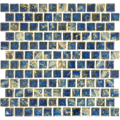 Gold Teal 1x1 Porcelain Pool Tile