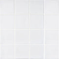 "White 3"" x 3"" Glossy Porcelain Waterline Pool Tile"