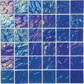 "Blue Lightwave 2"" x 2"" Glass Pool Tile"