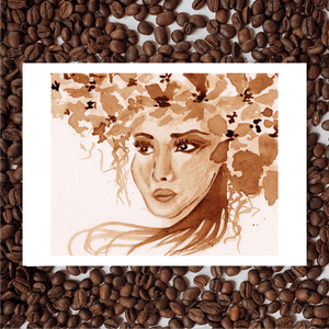 'Forest In Her Hair' Coffee Art Painting