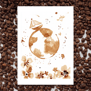 'Adventurer' Coffee Art Painting