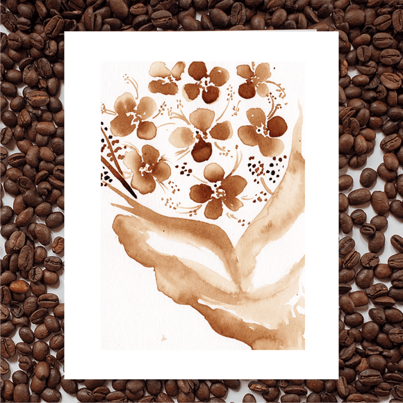'Gift So Beautiful' Coffee Art Painting