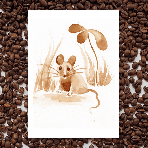 'Garden Creatures' Coffee Art Printing