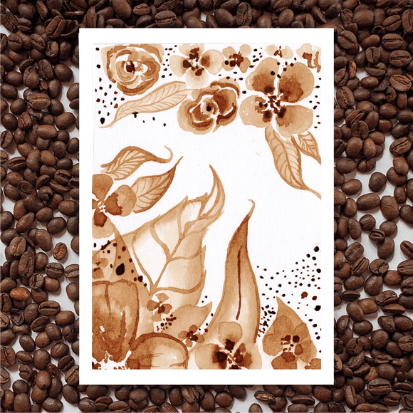 'Dainty Embellishment' Coffee Art Painting