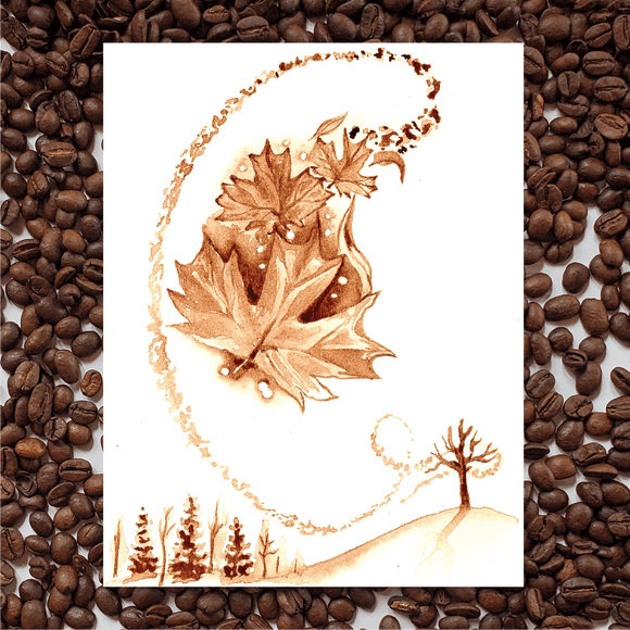 'Oh, Autumn' Coffee Art Painting