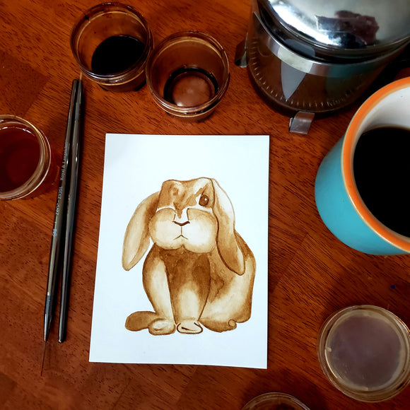 'Flopsy' Coffee Art Painting