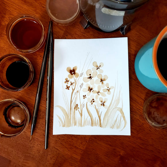 'A Light Touch'' Coffee Art Painting