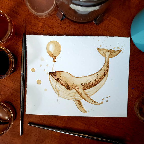 'New Heights' Coffee Art Painting