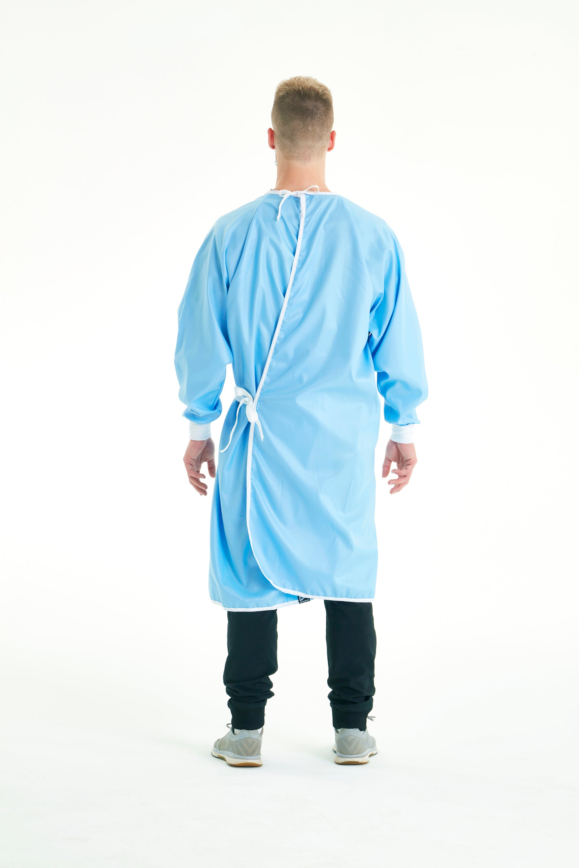 back-side-of-reusable-level-2-blue-gowns