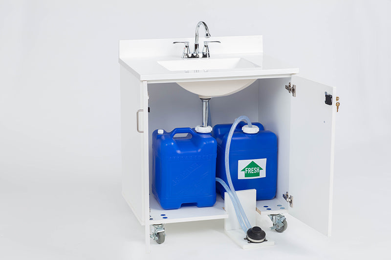 Portable Sink with Foot Pump Operation