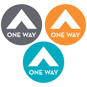 one-way-directional-circle-floor-decals-in-three-colors