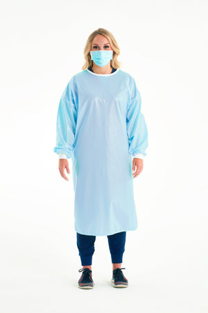 Reusable Non-Surgical Gown - Light Blue