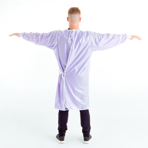 non-surgical-light-lavender-reusable-gown-back