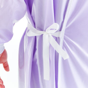 non-surgical-light-lavender-reusable-gown-side-tie